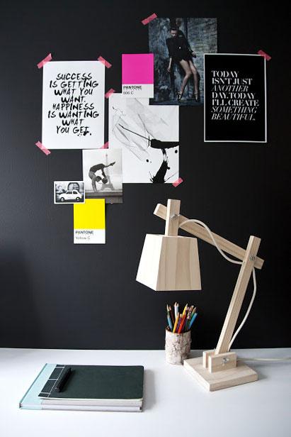 sorte vægge blog.hgtv.com