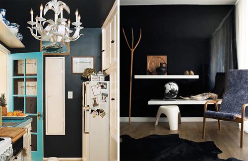 sorte vægge door sixteen