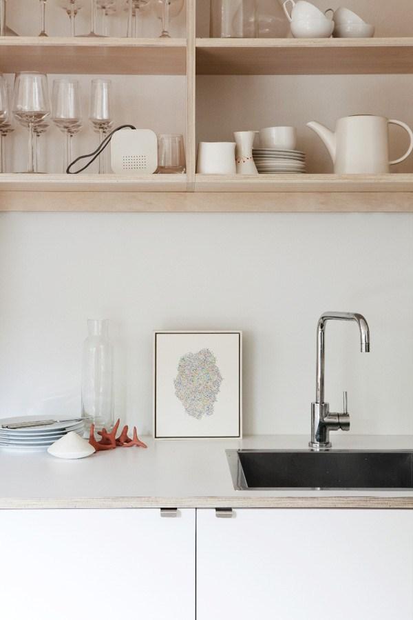 plywood-open-kitchen-shelves decoratorsnotebook