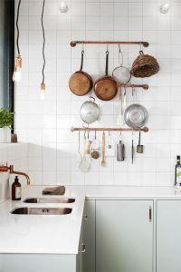 pastelkøkken kobberpander