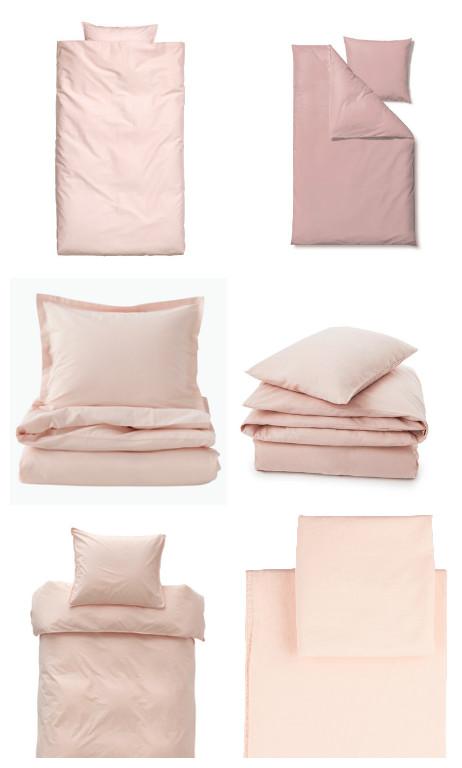 Lyserødt sengetøj